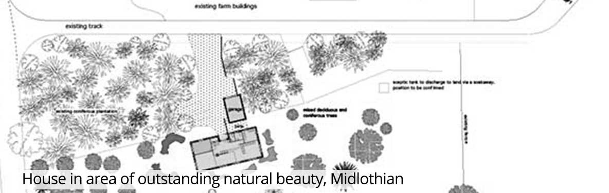 House in area of outstanding natural beauty, Midlothian
