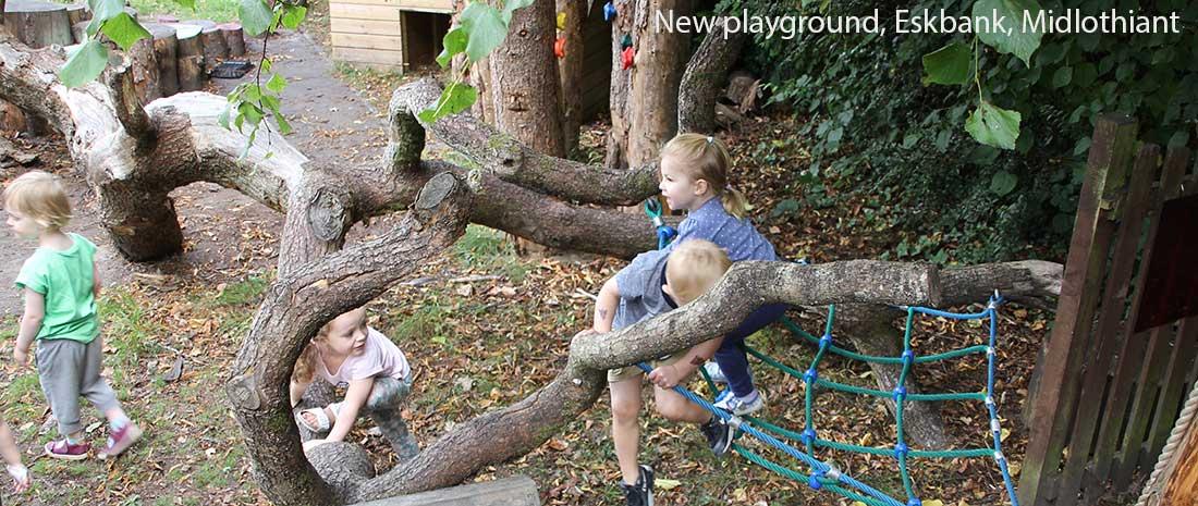 New playground, Eskbank, Midlothian